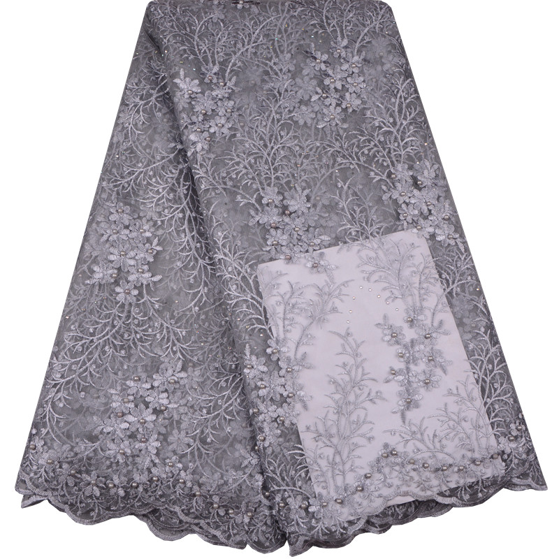 African Lace Fabric 2018 High Quality 5yards Lace Tulle Lace Fabric African French Net Lace Fabric