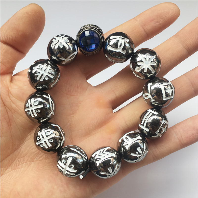 Noir Panthère Kimoyo Perles Bracelet T'Challa Alliage En Métal étagère de coin Bijoux Femmes/Hommes Accessoiristes accessoires de fête Collection Cadeau