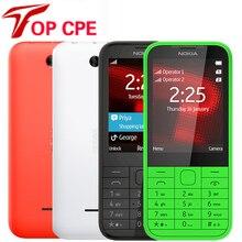 Nokia 225, одноядерный, 2,8 дюймов, разблокированная 2МП камера, 2G, GSM, FM, Bluetooth, Mp3 плеер, дешево, две карты, мобильный телефон