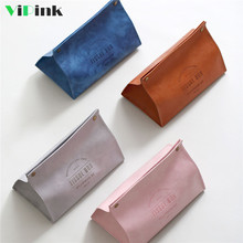 Vipink Tissue Box Holder Cover Home Creative Multifunctional Leather Pink Nordic Ins Style For Bedroom Living Room