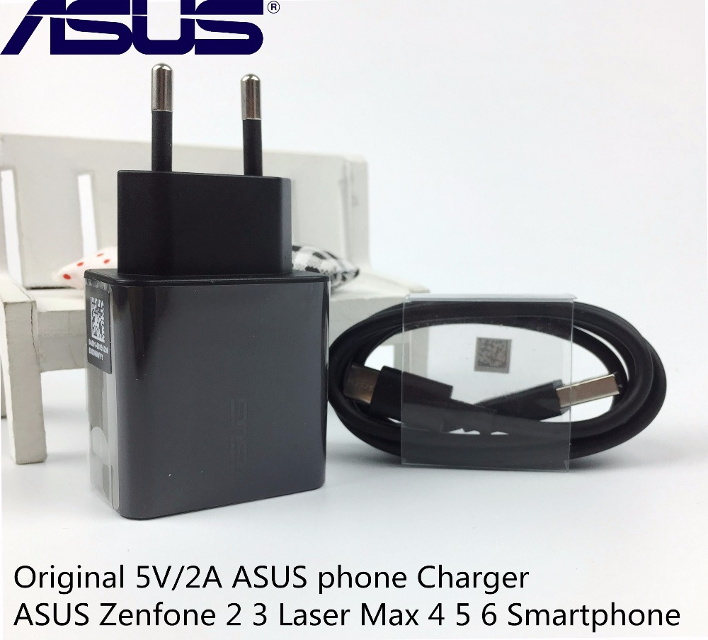 Original ASUS phone Charger ASUS Zenfone 2 3 Laser Max 4 5 6 Smartphone 5V/2A usb wall charging adapter +Type-C Data Cable