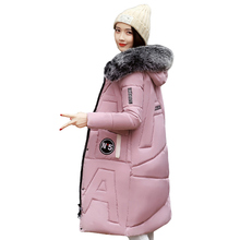 Big Fur Collar Down Parka Down Jacket Women 2018 New Female Winter Coat Thick Parka Long Women Slim Cotton Winter Coat Ladies