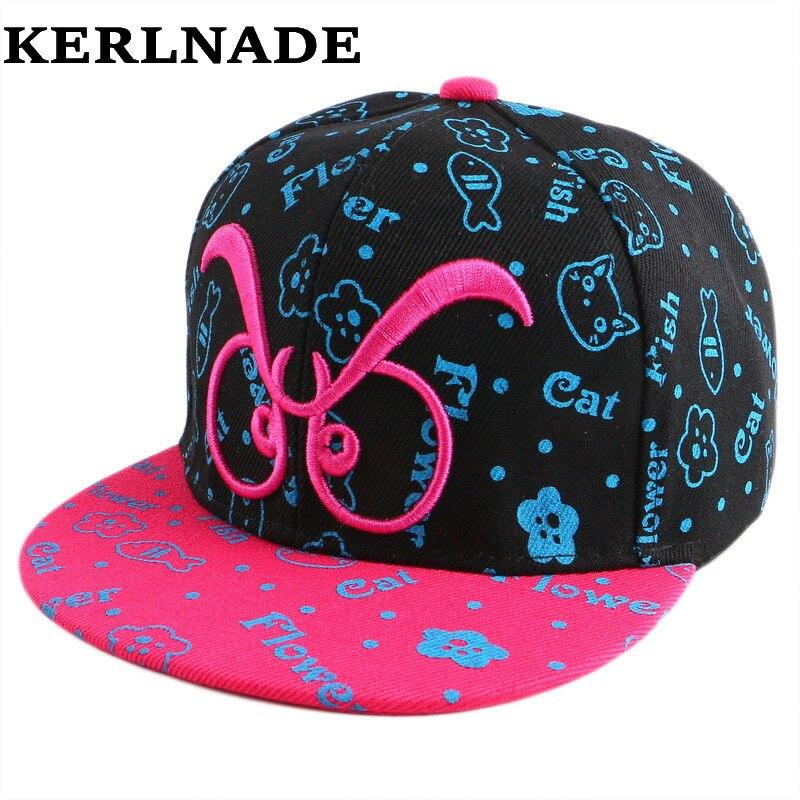 children boy girl beauty mustache style hip hop snapback cap hats wholesale good quality embroidery child brand baseball caps