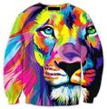 Мода осень/осень мужчины/женская 3D Животных печати футболка Плюс Размер 5XL смешные графические crewneck толстовка пуловер толстовка Hombre