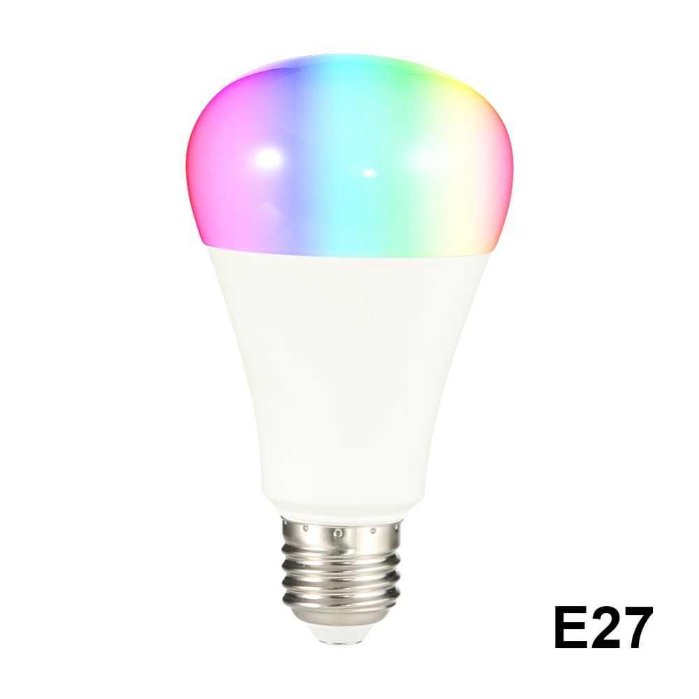 Lâmpada inteligente APP Controle Remoto LED WI-FI Inteligente Lâmpada LED Ajuste de Luz Ligar Para Amazon Alexa Inicial do Google E27 e26 B22