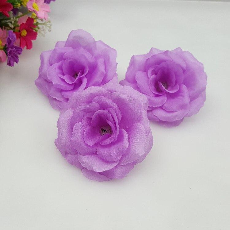 10 Pcs Lot 8 Cm Lavande Violet Clair Couleur Artificielle Rose De