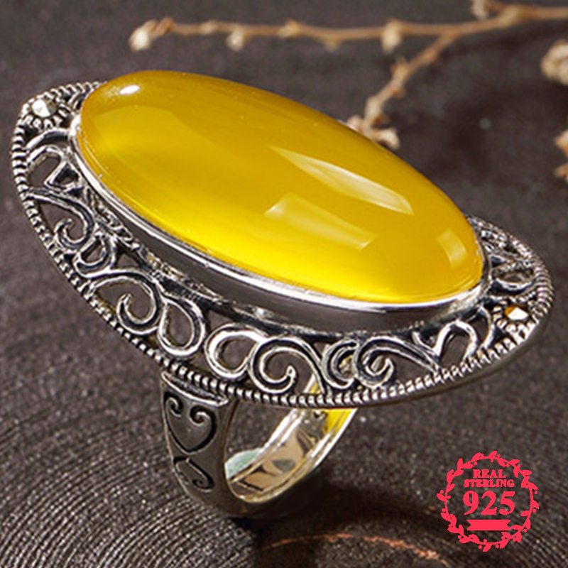 NOT FAKE Israel S925 Fine Jewelry Ring Sterling Silver Women Handmade Vintage Natural Artisan Baltic Semi Gemstone amber opalNOT FAKE Israel S925 Fine Jewelry Ring Sterling Silver Women Handmade Vintage Natural Artisan Baltic Semi Gemstone amber opal