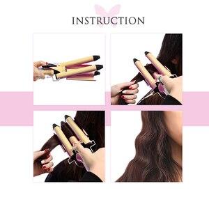 Image 3 - Kemei מקצועי שיער טיפוח וסטיילינג כלים קרלינג שיער curler גל שיער styler קרלינג איירונס שיער מלחץ krultang ברזל 5