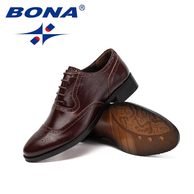 Dos De Estilo Conforto Rápido Homens dark Vestem Brown Escritório Bona Livre Sapatos Up Transporte Novo Formais Grátis Lace Genuíno Clássicos Se Black Couro Masculino xtanzpw