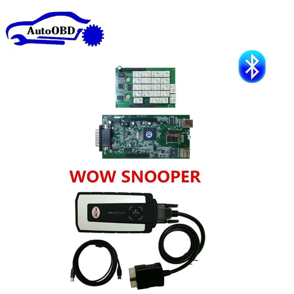 Prix pour Ne-c relais avec keygen 2017 WOW SNOOPER Bluetooth avec boîte v5.008 R2 version et 2015.3 peut choisir tcs cdp pro plus