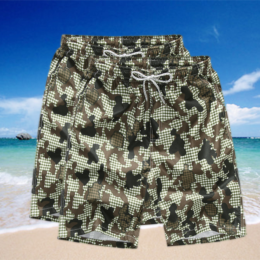 2017 Hot Selling Summer Mens Beach Shorts Beach Pants Loose Floral Shorts Quick-Drying S ...
