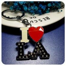 State Theme Gift I love Los Angeles Key Chain Souvenir