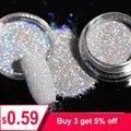 1 caja 1g brillo holográfico en polvo brillante azúcar de uñas Venta caliente polvo para arte de uñas decoraciones