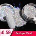 1Box 1g Holographic Glitter Powder Shining Sugar Nail Glitter Hot Sale Dust Powder for Nail Art Decorations