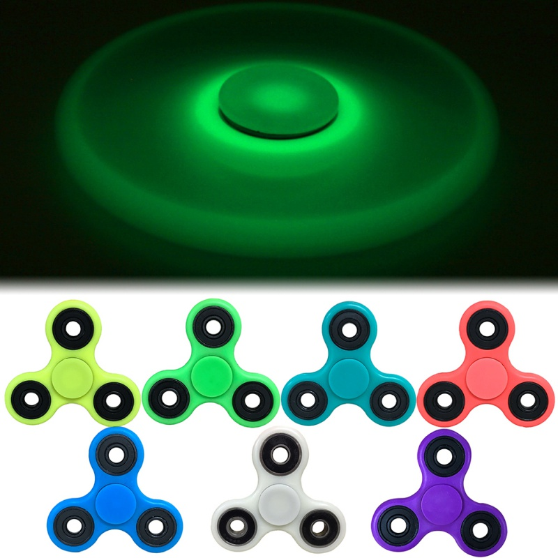 7 Colors Fidget Tri-Spinner For Autism and ADHD Hand Spinner Anti Stress Gift Toy 1-3 Mins Rotation With LED Light