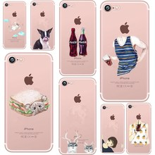 Silicone Case For iPhone 7 Plus Case For iPhone 8 Plus Cola Boy Girl Summer Phone Cover For iPhone7 Plus 8 X 6s 5S Case цена и фото