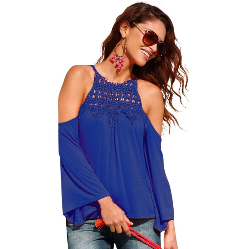 Verano Blusa Camisa Patchwork Correa de Espagueti de Tejer Crochet Blusas de Enc
