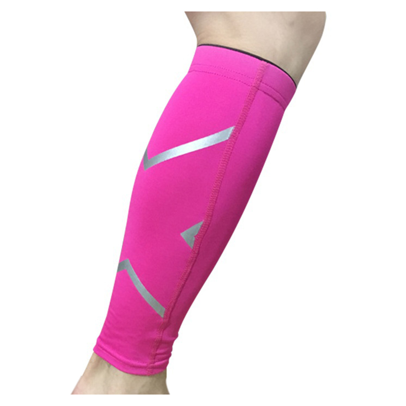 Univrsal Leg Support Braces Calf Socks Compressions Sleeves Running Basketball Weight Lift Leg Sleeves Rose Red