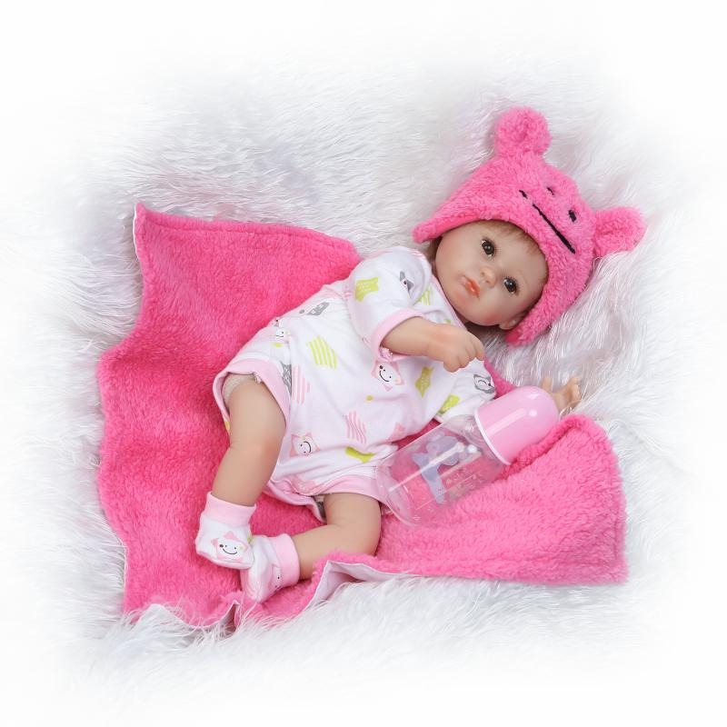 NPK 17 Inch 42cm Reborn Baby Girl Doll Realistic Looking Lovely Baby Doll New Born Toddler Toy