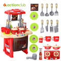 Kids Toys Children DIY Kitchen Set Toy Plastic Kid Food Fruit Cooking Tools Role Play Cosplay 3-6 Year Children Educational Toys