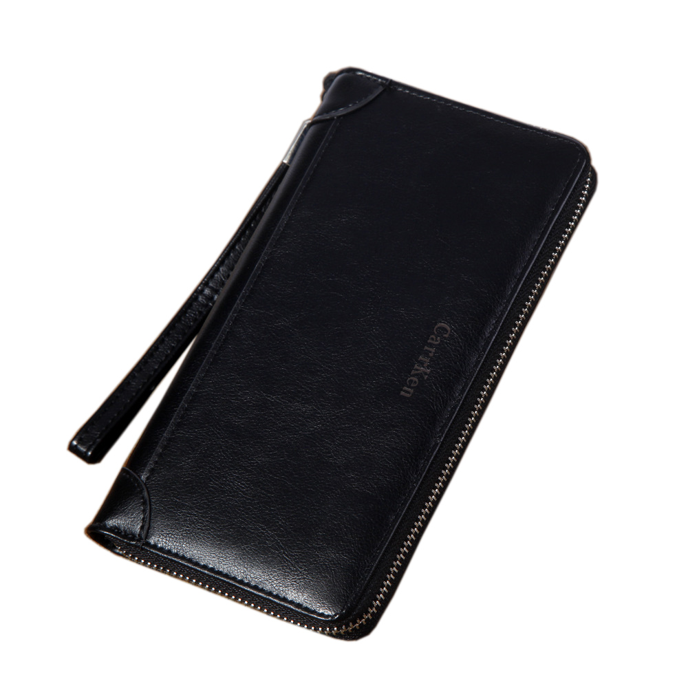 New Fashion Clutch Male Wallet Oil wax Men Wallets Wristlet Men Clutch Bags Coin Purse Men's Wallet Leather Male Purse fashion clutch genuine leather men wallets with wristlet zipper long male wallet crocodile pattern men purse man s clutch bags