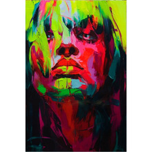 Nielly Francoise Abstract Knife Palette Picture Hand Painted Modern Pop Art Oil Paintings Art Wall Decoration Cool Face Poster