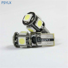 цена на Canbus White W5W T10 5 SMD 5050 168 194 T10 LED Car Light W5W T10 LED Clearance Readling Lighting  Side Wedge lamps