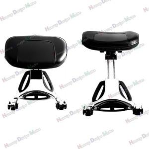 Image 3 - Chrome Multi Purpose Adjustable Driver & Passenger Backrest For Harley Touring Street Glide Road King Softail