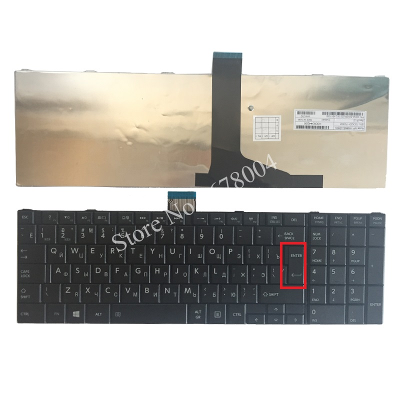 New laptop Russian for TOSHIBA SATELLITE C850 C850D C855 C855D L850 L850D L855 L855D L870 L870D RU Black notebook keyboard image