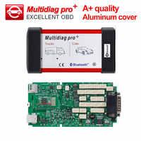 A+ Multidiag pro Green board CDP TCS pro plus Bluetooth Aluminum cover 2016.0 keygen code reader cars truck OBD2 diagnostic tool