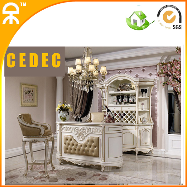 white home bar furniture. (1 Bar Table +1 Wine Cabinet )European Modern White Home Furniture For H