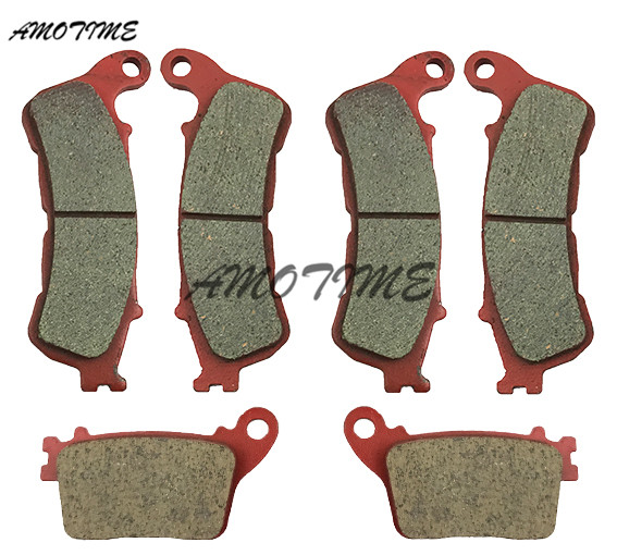 Motorcycle ceramic front and rear brake pads For CB600 Hornet 2007-2013 motorcycle front and rear brake pads for honda cb600f hornet 1998 2006