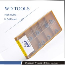 Free shpping 10PCS WCGX080412 FN NC1027 U drill Carbide Cutter Turning tools WCGX080412 Carbide inserts