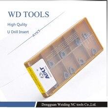 Shpping חינם 10 יחידות WCGX080412 FN NC1027 תרגיל U WCGX080412 קרביד קאטר כלים מפנה מוסיף קרביד
