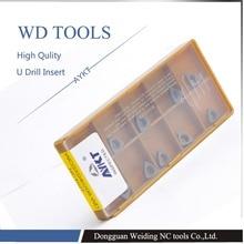 Shpping libero 10 PZ WCGX080412 FN NC1027 U drill Carbide Cutter utensili di Tornitura inserti In Metallo Duro WCGX080412