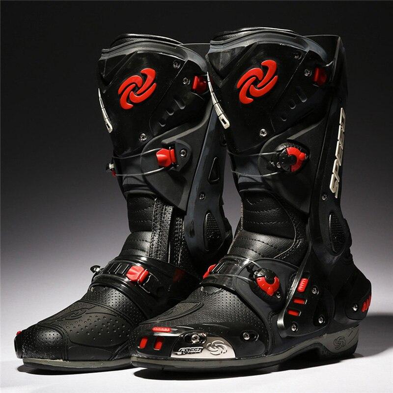 PRO-байкер мотоботы защитный мотокроссу Скорость Мотоцикл обувь мото ботинки Байк Велоспорт Спортивная Botas B1003