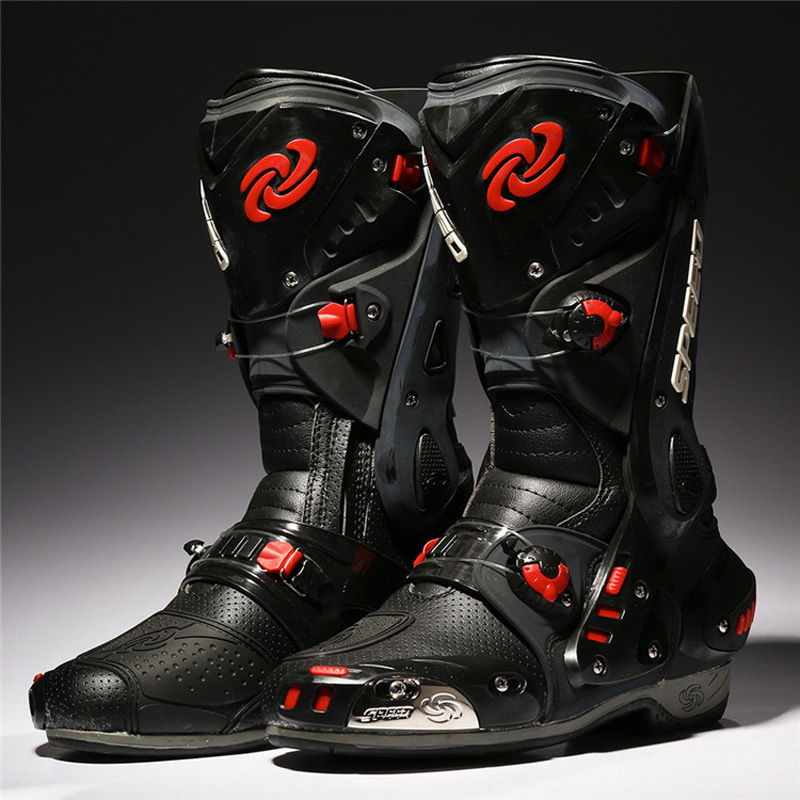 PRO-BIKER Moto Bottes De Protection Motocross Racing Speed Moto Chaussures Moto Boot Dirt Bike Vélo Sport Botas B1003