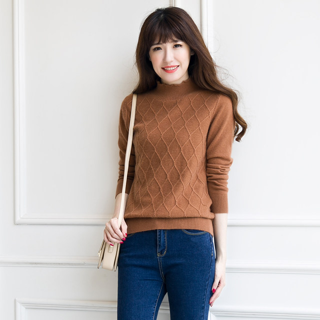 Online Shop Casual Women Cashmere Sweater Knitting Pattern Pullovers