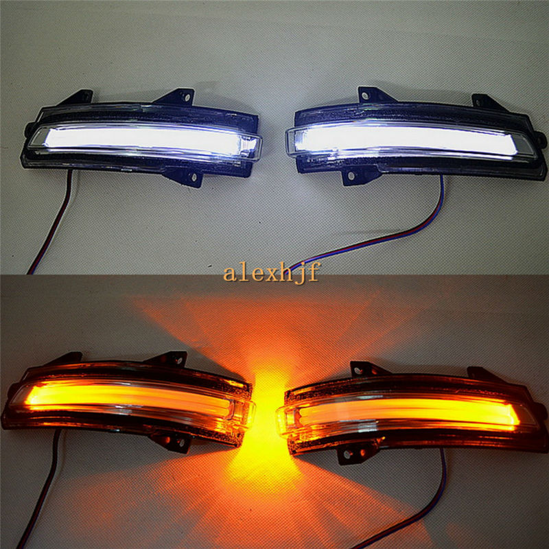 July King LED Rear-view Mirror Lights Case For Honda Civic 9th Jade City Mobilio Crider; LED Position Light + Turn Signals