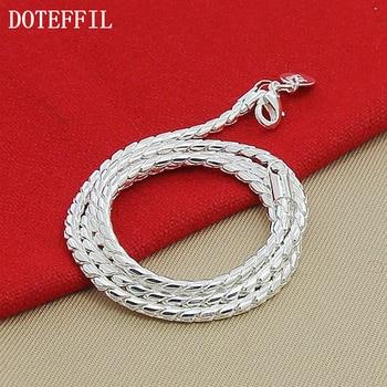 Regalo de Navidad 2019 de plata 925 de moda 3mm serpiente collar de cadenas de venta al por mayor collar de la joyería