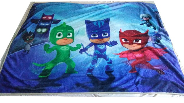 High Quality Flannel Baby Blanket 100 140 Kids PJmasks Cartoon Super Soft  Blankets Aircon Child Sheet Thick Warm Winter 507d4deca