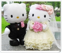 a pair of cute wedding kitty toys lovely beautiful lovers kitty dolls gift about 30cm