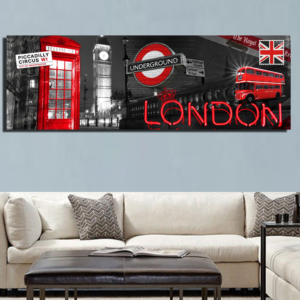 Posters Decorative Pictures Canvas-Paintings London City-View Landscape Living-Room Modern