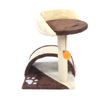 M2B 19 Sisal Hemp Cat Tree Condo Tower Kitten Furniture Play House Brown