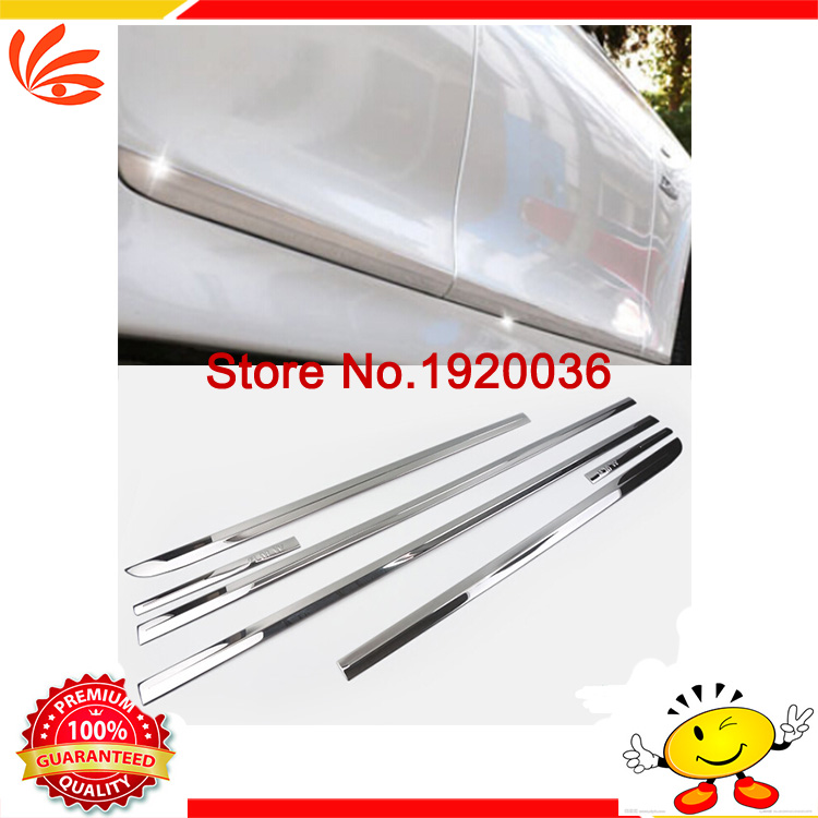 Car styling Body trim Side Door Trim Molding Exterior cover For Suzuki VITARA  2015-2016 Door Side Molding Trim Side Door Trim car styling abs chrome body side moldings side door decoration for hyundai ix35