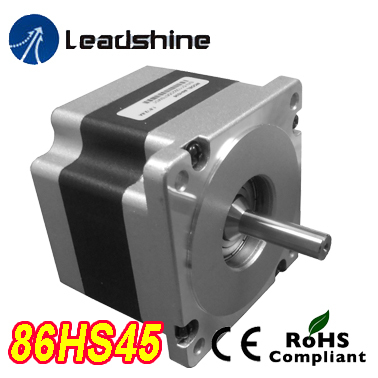 Genuine Leadshine 86HS45 NEMA 34 Hybrid Stepper Motor 2 Phase with 3.2 N.m 4.2 A length 80 mm shaft 12.7 mm