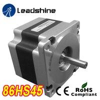 Genuine Leadshine 86HS45 NEMA 34 Hybrid Stepper Motor 2 Phase with 3.2 N.m 4.2 A length 80 mm shaft 12.7 mm
