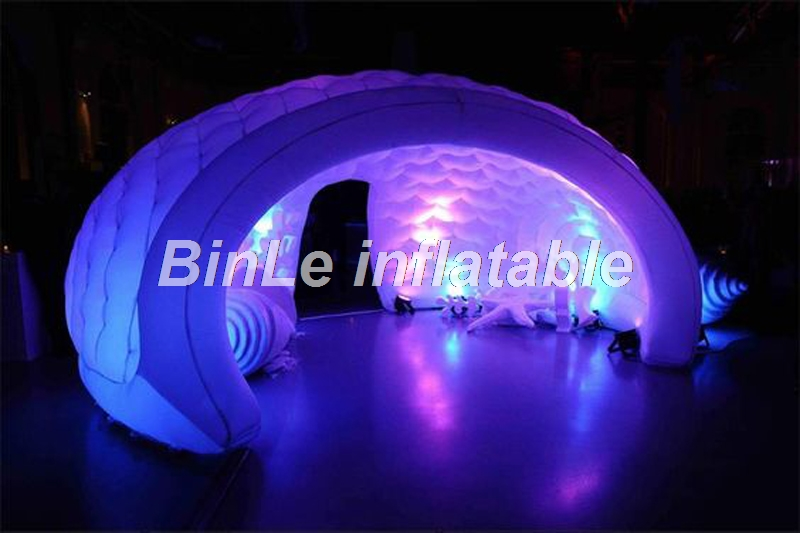 Popular creative 5.5m party used inflatable led dome white event igloo dome tent open air inflatable gazebo for disco white blow up igloo dome inflatable tent product for promotion