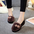 Women's Shoes Real Fur Slip On Flat Heel Shoes Soft Bottom Creepers Female Loafers For Women Casual Cozy Shoes Chaussure Femme