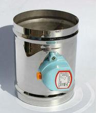 125MM Stainless steel air damper seal type 220VAC Air damper air tight type 5 ventilation pipe